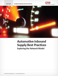 Inbound Supply Best Practices for Automotive