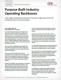 Industry Operating Backbones for B2B Collaboration