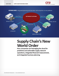 Real time supply chain management in the cloud