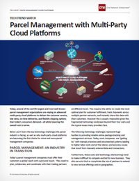 Parcel Management and Delivery Tech Trends - challenges and solutions for parcel carriers
