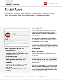 Social Apps for B2B and Enterprise