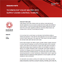 Supply Chain Control Towers Review