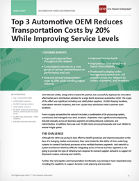Top 3 Automotive OEM Cuts Transportation Costs