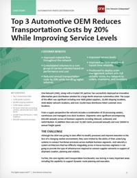 Automotive OEM Supply Chain Case Study