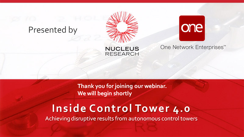 Supply Chain Control Towers with Nucleus Research