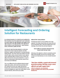 Intelligent Forecasting and Ordering Solution for Restaurants
