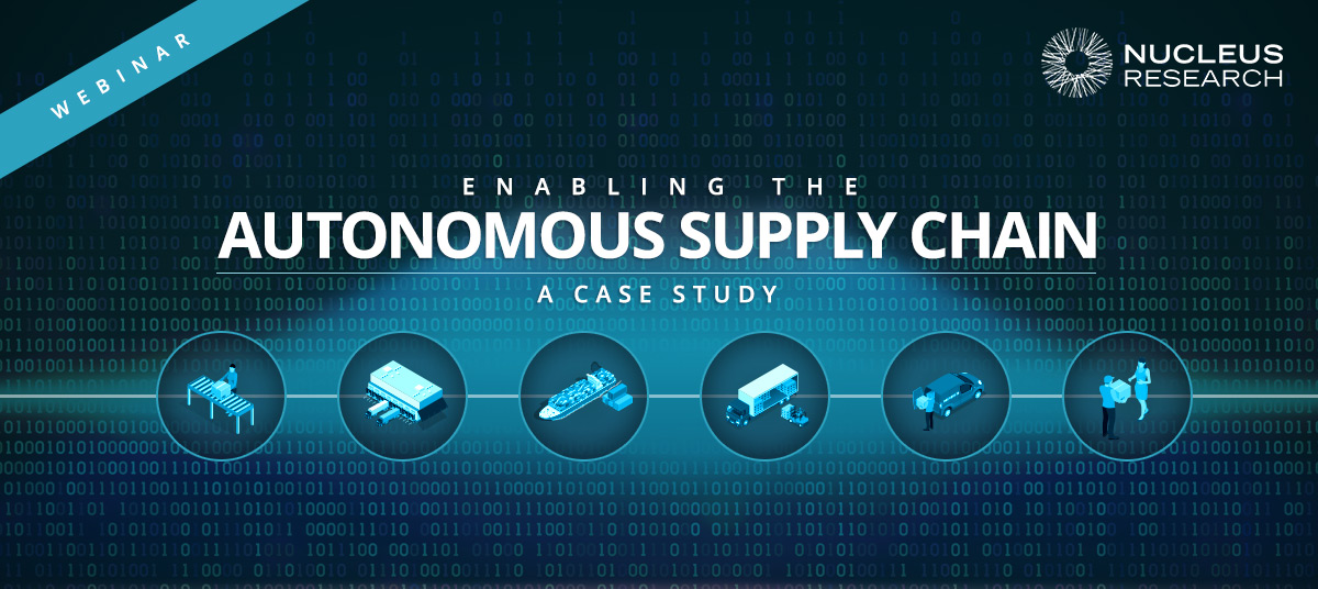 Enabling the Autonomous Supply Chain