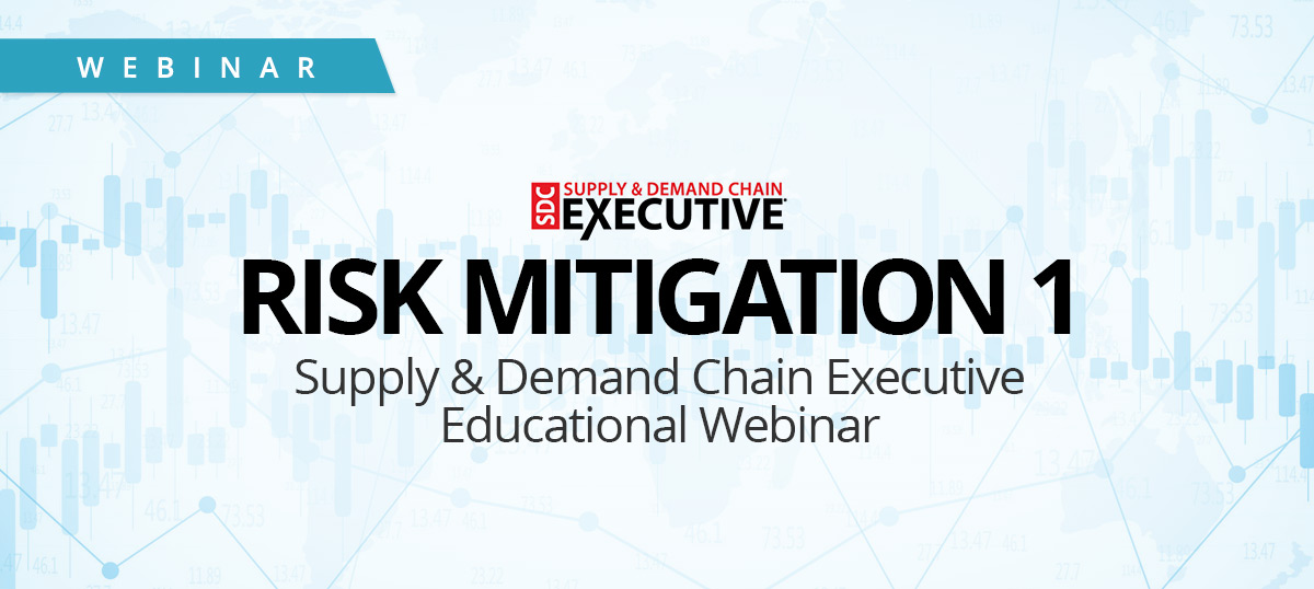 Supply & Demand Chain Executive Educational Webinar - Risk Mitigation 1