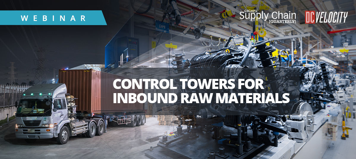 Control Tower for Managing Inbound Raw Materials